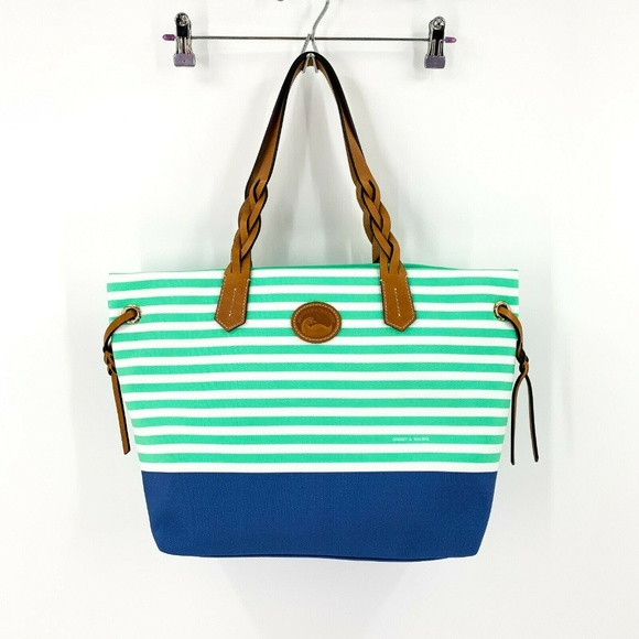 Dooney & Bourke Handbags - nwt | Dooney & Bourke Seafoam Striped Shopper